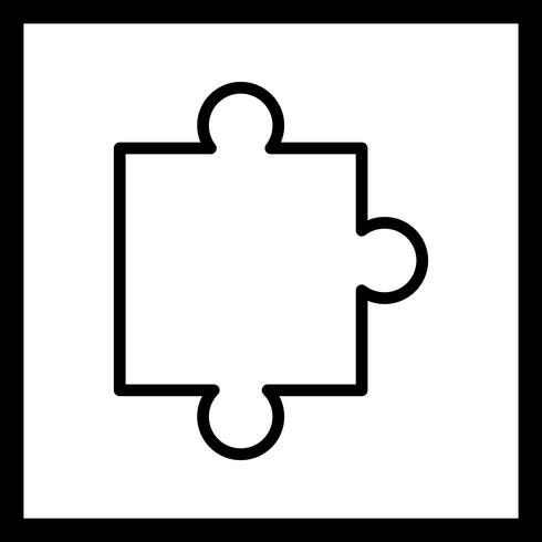 Icona del pezzo di puzzle vettoriale