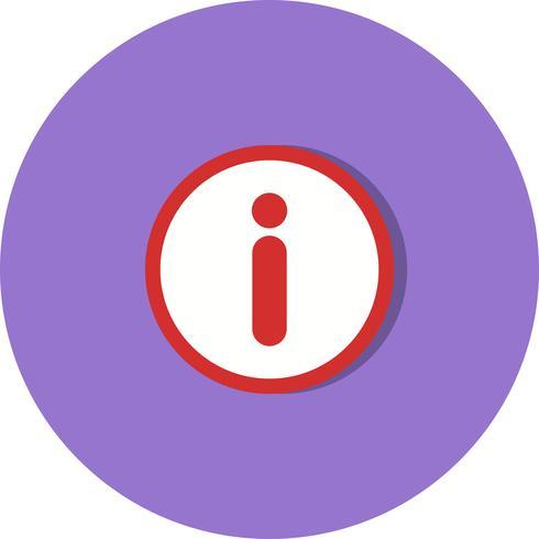Icona di vettore di informazioni
