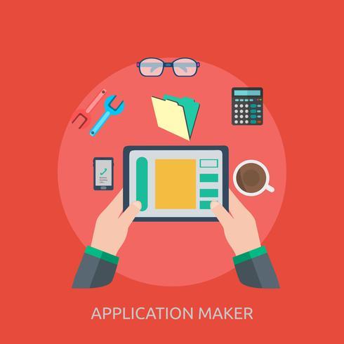Progettazione concettuale dell'illustrazione del creatore dell'applicazione vettore