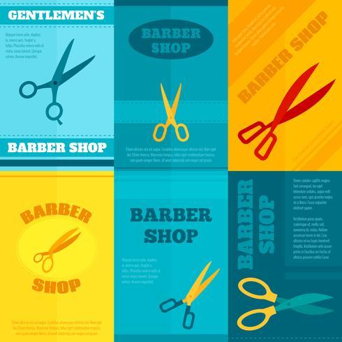 Set di poster da barbiere vettore