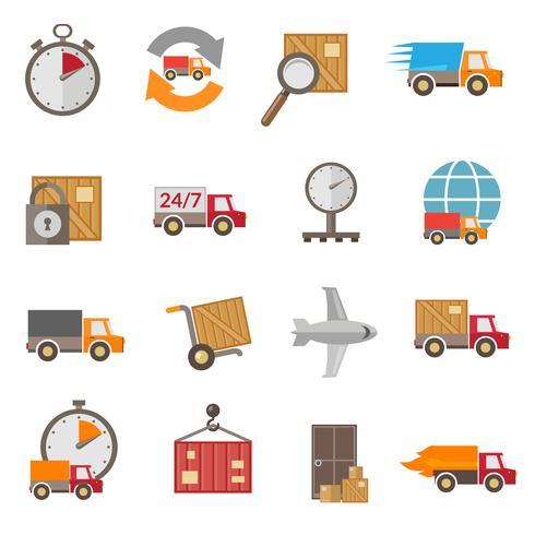Icone di consegna impostate vettore