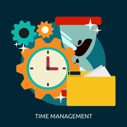 Progettazione concettuale dell'illustrazione della gestione di tempo vettore
