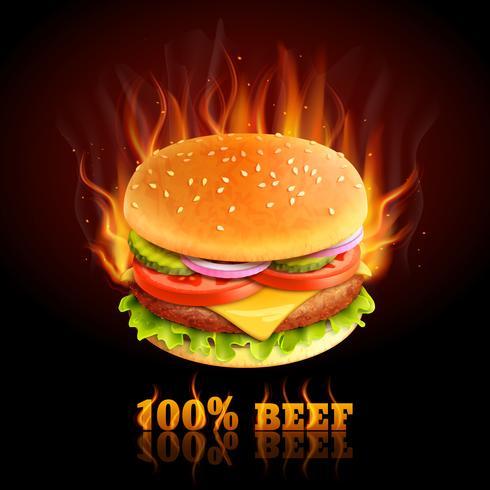 Sfondo di manzo hamburger vettore
