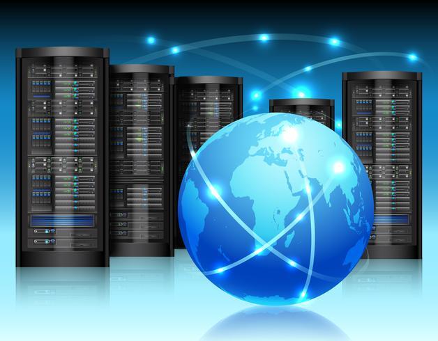 Concetto di rete globale vettore