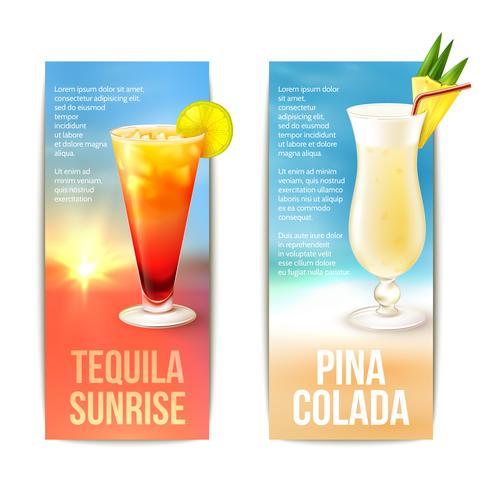 Set di banner di cocktail vettore