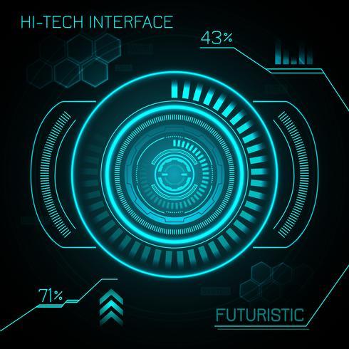 Hud sfondo futuristico vettore