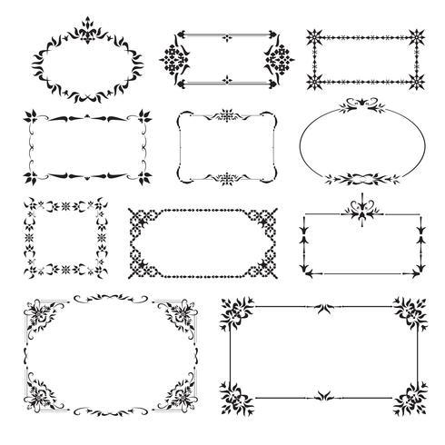 Set di angoli di design ornamentale vettore