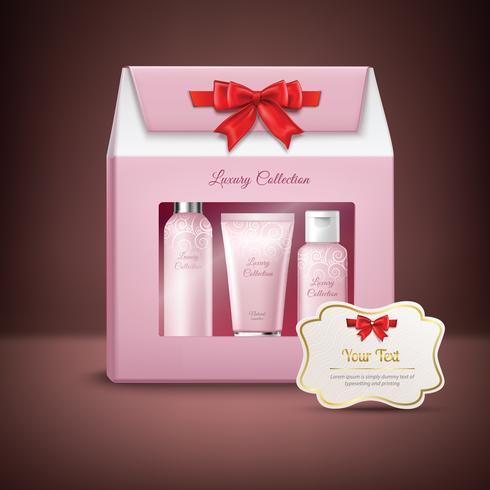 Confezione regalo cosmetici vettore