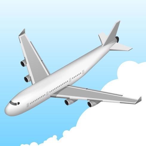 Icona isometrica dell'aeroplano vettore