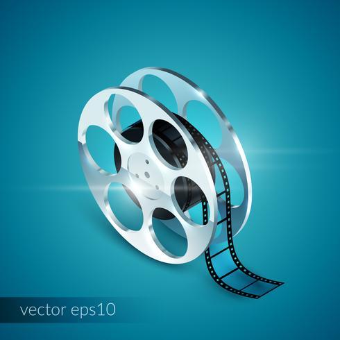 Film Reel realistico vettore