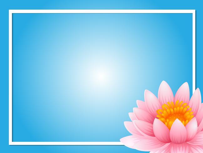 Modello di cornice con loto rosa vettore