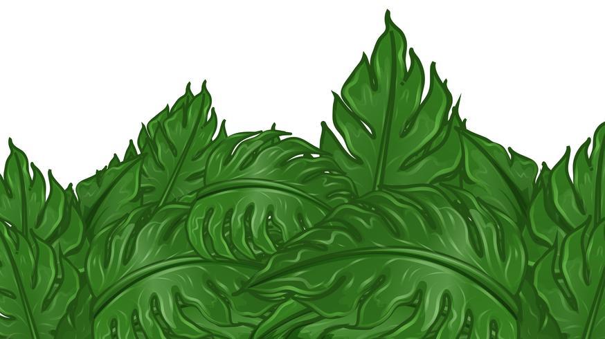 Disegno di sfondo con foglie verdi vettore