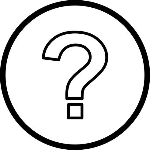 Icona di vettore del punto interrogativo