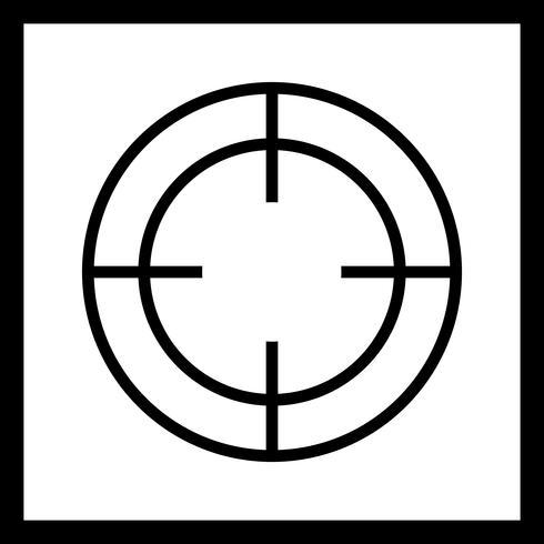 Icona di destinazione vettoriale