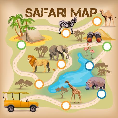 poster di safari per il gioco vettore