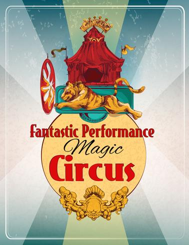 Poster retrò circo vettore