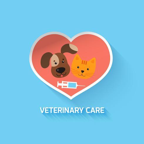 Simbolo del cuore veterinario vettore