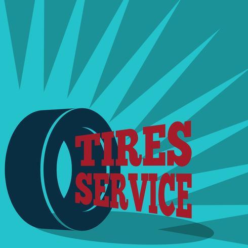 Poster di servizio pneumatici vettore