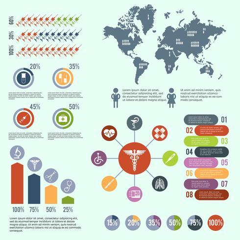 Infografica di assistenza sanitaria medica vettore