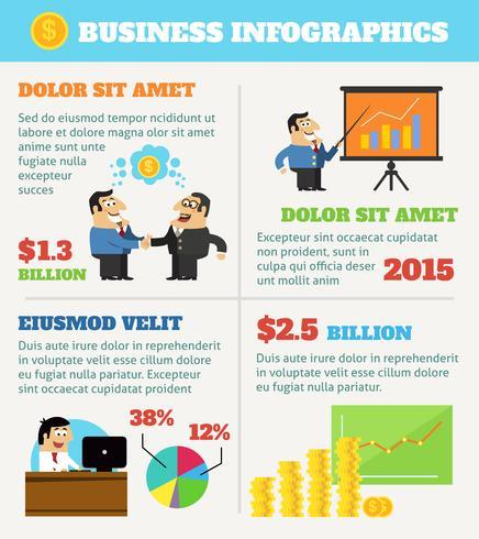 Infografica di vita aziendale vettore