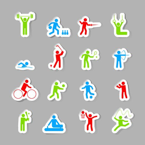 Set di icone di sport vettore