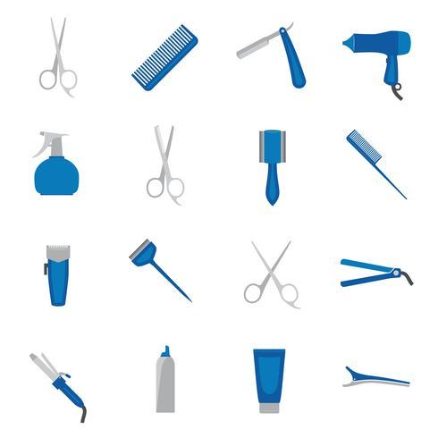 Icona di parrucchiere piatta vettore