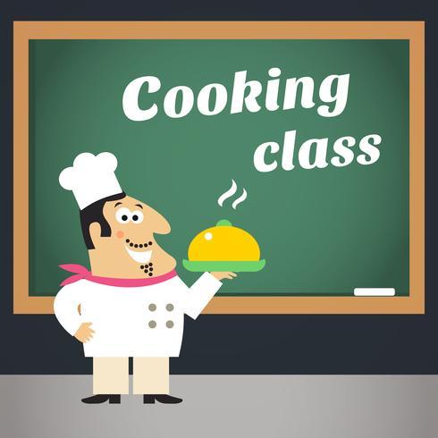 Manifesto pubblicitario di cucina vettore