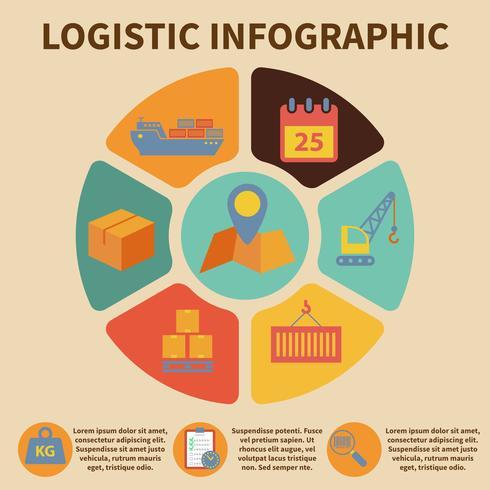 Icone di infografica logistica vettore