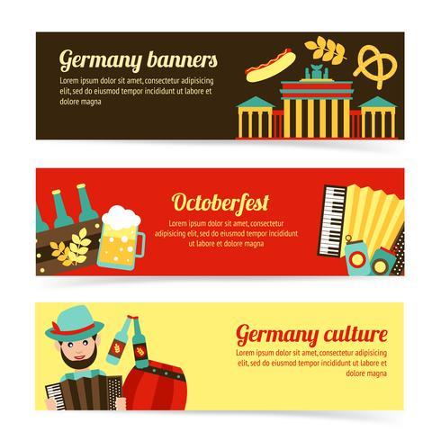 Set di banner di viaggio Germania vettore