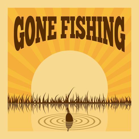 Poster di pesca vettore
