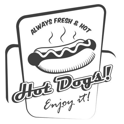 Poster di hot dog vettore