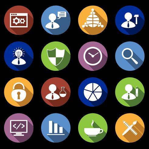 Set di icone SEO piatte vettore