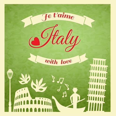Italia retro poster vettore