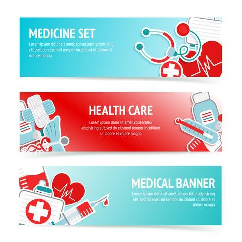 Banner di assistenza sanitaria medica vettore