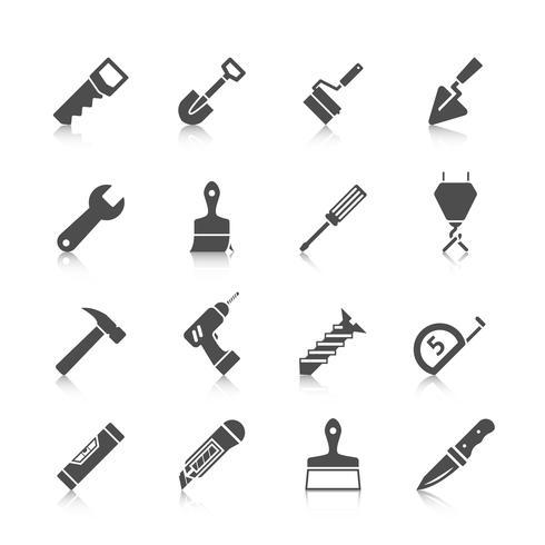 Icone degli strumenti di riparazione a casa vettore
