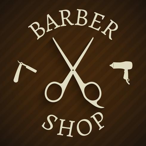 Manifesto di barbiere parrucchiere vettore