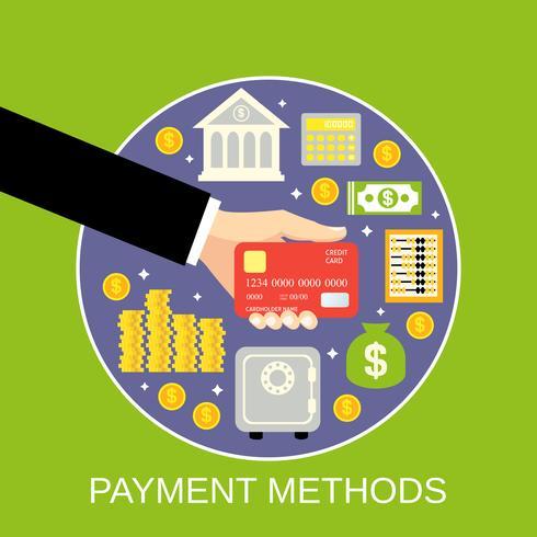 Concetto di metodi di pagamento vettore