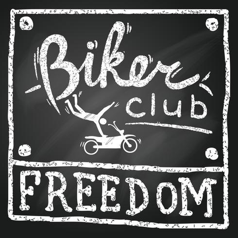 poster del club di motociclisti vettore
