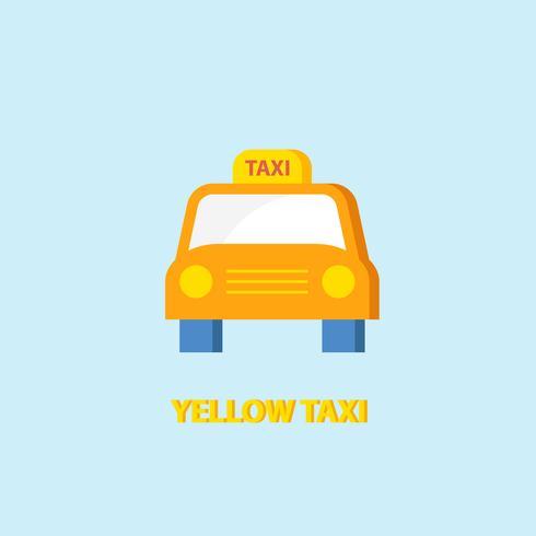 Icona di taxi giallo vettore
