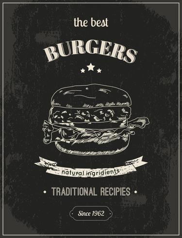 Manifesto di hamburger vettore