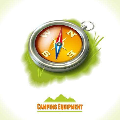 Camping bussola simbolo vettore