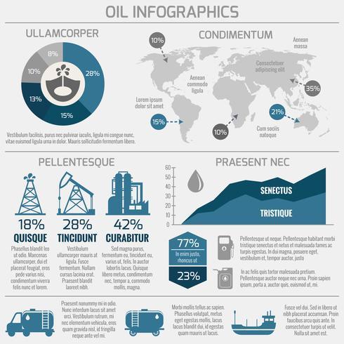 Infografica industria petrolifera vettore