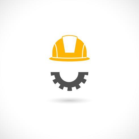 Icona di concetto di ingegnere vettore