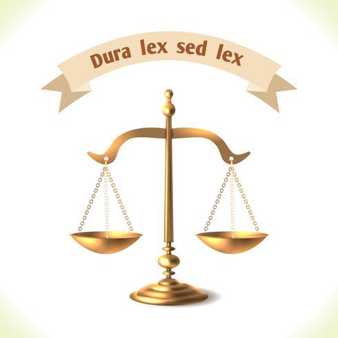 Scala della corte dell'icona di legge vettore