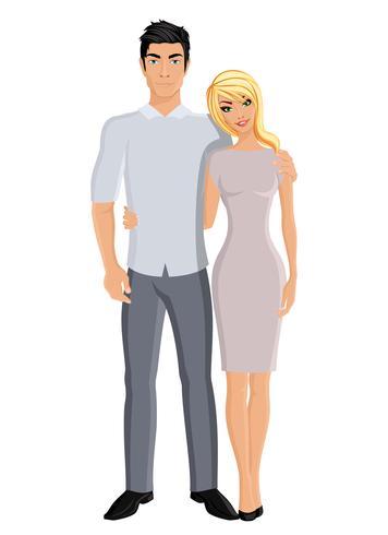 Marito e moglie vettore