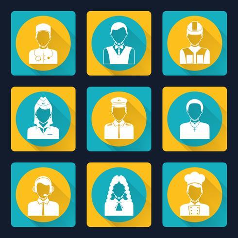Set di icone di avatar professionali vettore