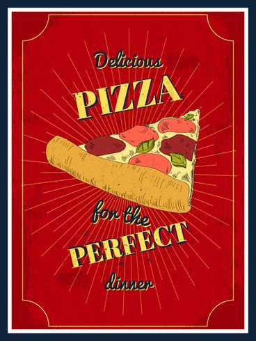 manifesto della pizza vettore