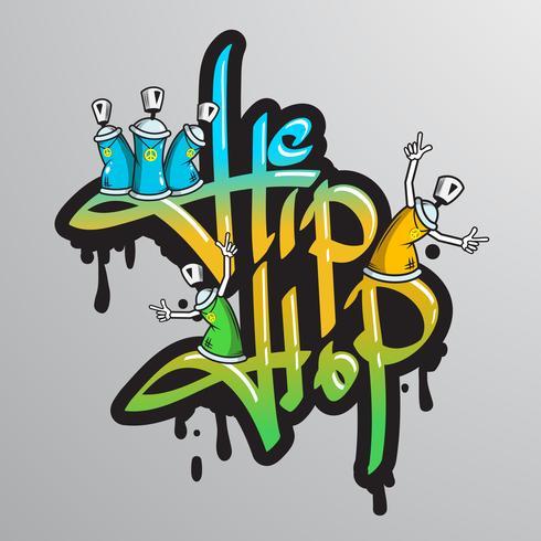 Stampa di caratteri di parole graffite vettore