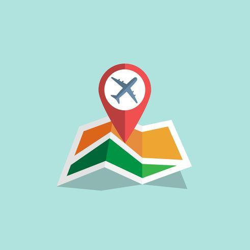 Icona della mappa di navigazione vettore