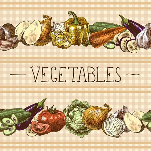 Confine senza cuciture di verdure vettore